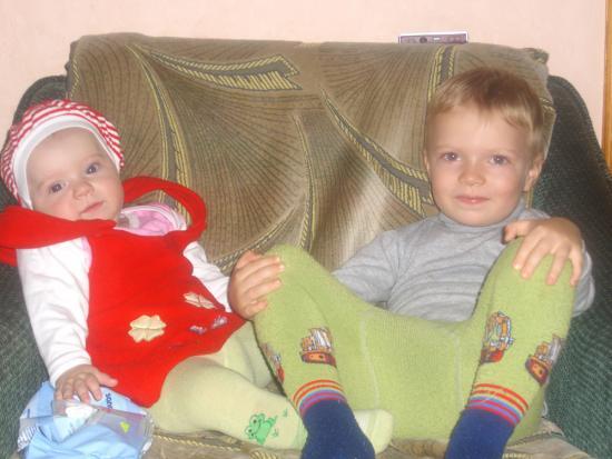 Copii mei Sandu si Evelina